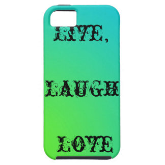 Live,laugh,love teal and lime green iPhone SE/5/5s case