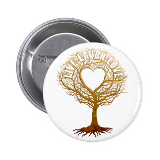 Live Laugh Love - Tree of Life Pinback Button