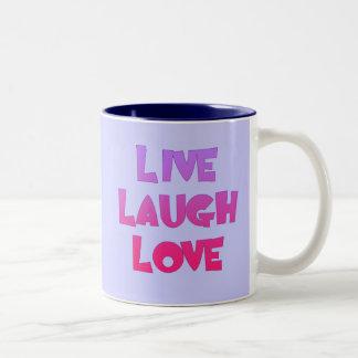 LIVE LAUGH LOVE Tshirts, Gifts Two-Tone Coffee Mug