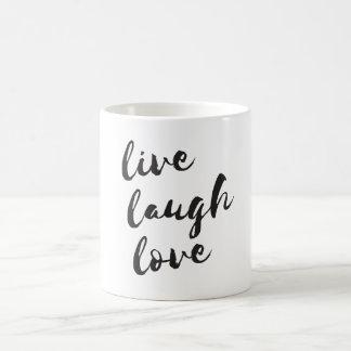 Live, Laugh, Love. Typographic mug