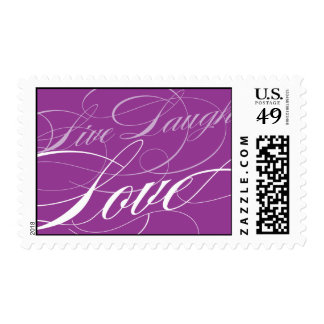 Live, Laugh, Love Wedding Postage Stamp