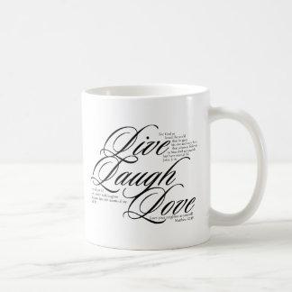 Live Laugh Love with Scripture Coffee Mug