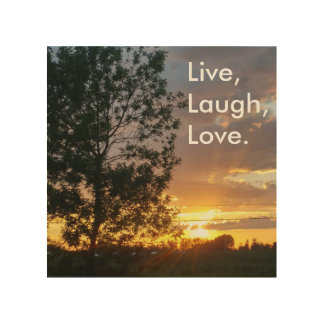 Live, Laugh, Love wooden wall art