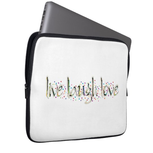 Live, Laugh, Love Words Computer Sleeve