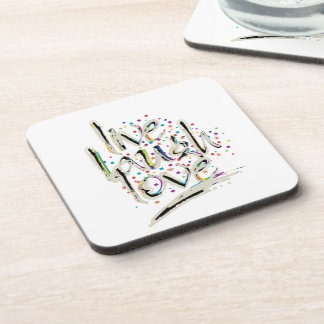 Live, Laugh, Love Words Drink Coaster