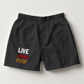 Live Laugh Poop Boxers