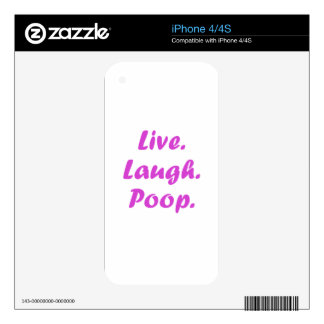 Live Laugh Poop Decal For The iPhone 4