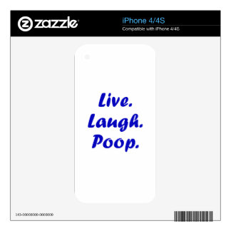 Live Laugh Poop iPhone 4S Decals