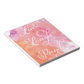 Live Laugh Punch Notepad
