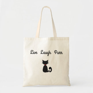 live laugh purr tote bag