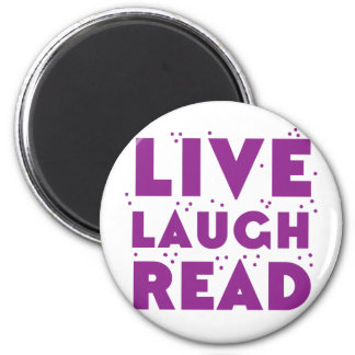 live laugh read 2 inch round magnet