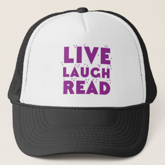 live laugh read trucker hat