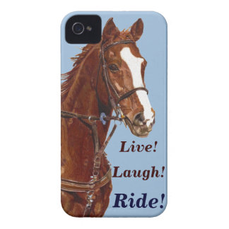 Live! Laugh! Ride Horse iPhone 4 Covers