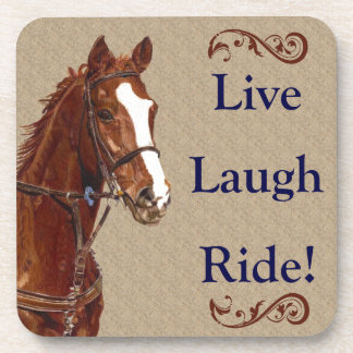 Live Laugh Ride! Horse Drink Coaster