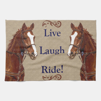 Live Laugh Ride! Horse Hand Towel