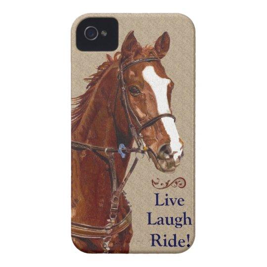 Live Laugh Ride! Horse iPhone 4 Case-Mate Case