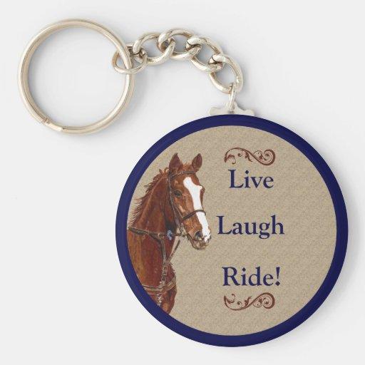 Live Laugh Ride! Horse Key Chain