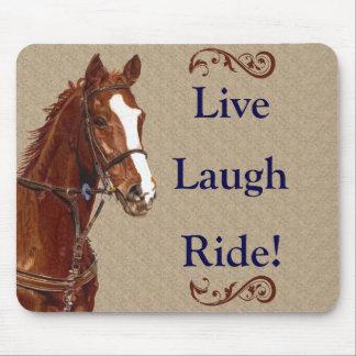 Live Laugh Ride! Horse Mouse Pad
