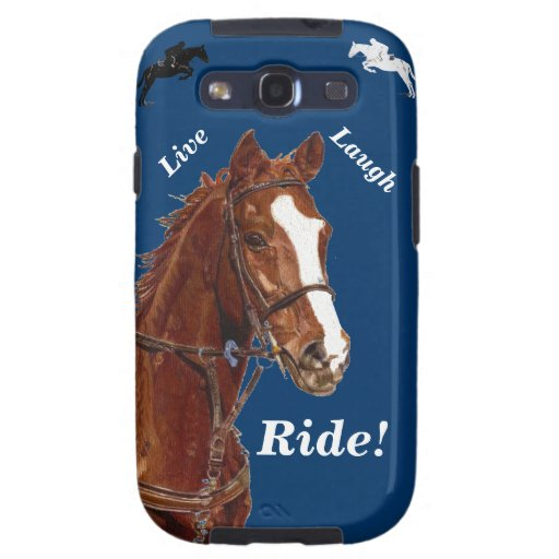 Live! Laugh! Ride Horse Samsung Galaxy S3 Cases