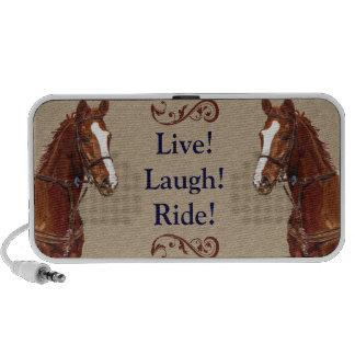 Live Laugh Ride Horse Notebook Speaker