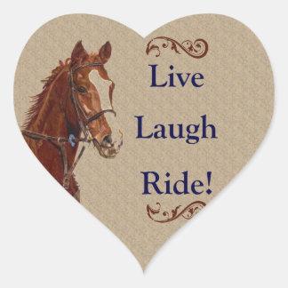 Live Laugh Ride! Horse Stickers