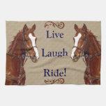 Live Laugh Ride! Horse Towel