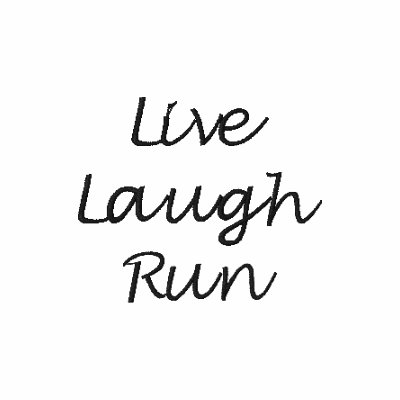 Live Laugh Run Embroidered Shirt