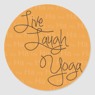 Live Laugh Yoga Classic Round Sticker