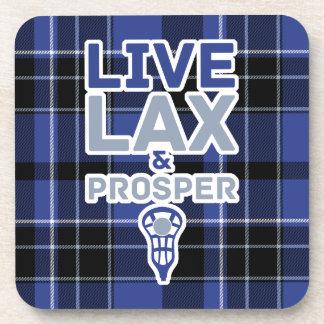 Live LAX And Prosper Lacrosse Coasters