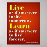 Live & Learn Print