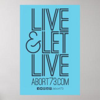 Live & Let Live Poster (Abort73.com)