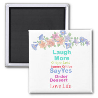 Live Life... 2 Inch Square Magnet