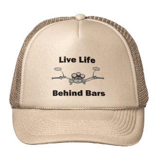 Live Life Behind Bars Mesh Hats