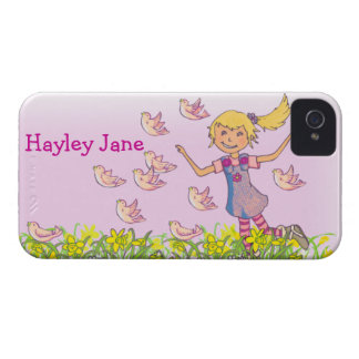 Live life blonde girl pink iphone4S barely case