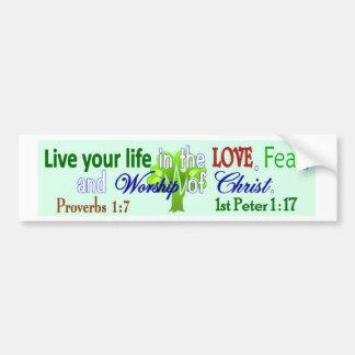 Live life bumper sticker
