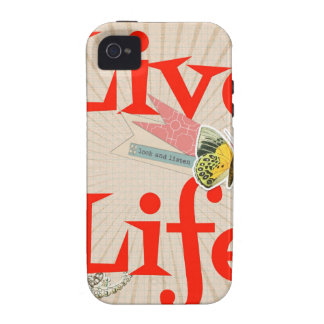 Live life iPhone 4/4S cover