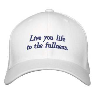 Live Life_Embroidered Hat_by Elenne Boothe Cap