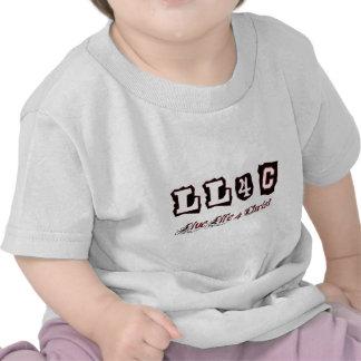 Live life for Christ Christian saying T Shirts