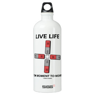 Live Life From Moment To Moment (Quadrupole) Aluminum Water Bottle