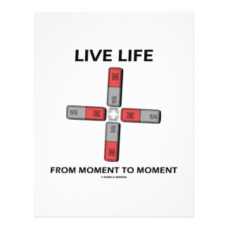 Live Life From Moment To Moment (Quadrupole) Full Color Flyer