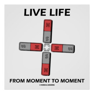 Live Life From Moment To Moment (Quadrupole) Poster
