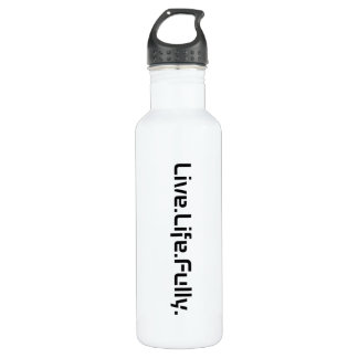 Live.Life.Fully Stainless Steel Water Bottle