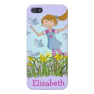 """Live life have fun!"" girl in spring iphone cover"
