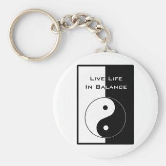 Live Life in Balance Keychain