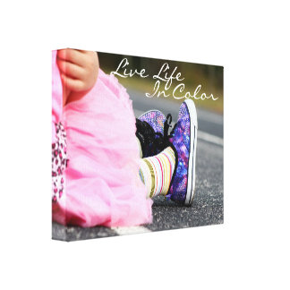 Live Life in Color Photography Canvas Print