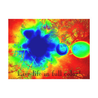 Live Life in Full Color Abstract Canvas Wall Art