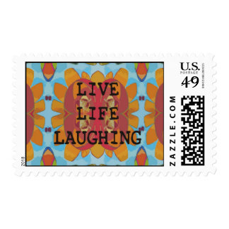 Live Life Laughing USPS Stamps