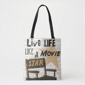 Live Life Like a Movie Star Tote Bag