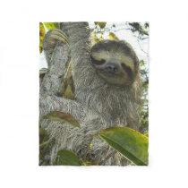 Live Life Like a Sloth Fleece Blanket