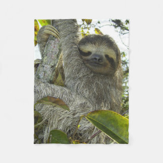 Live Life Like a Sloth Fleece Blanket